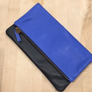 Clare V fold over leatherclutch